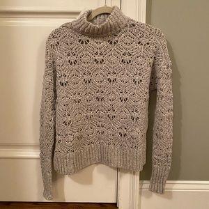 American Eagle gray knit turtleneck